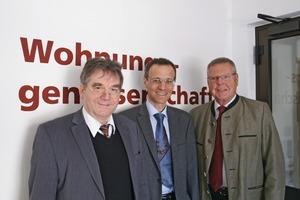 Der Vorstand der Wohnungsgenossenschaft Ebersberg eG, von links: Peter Dingler, Ulrich Krapf und Fritz Eichhorn