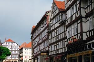 In der Innenstadt von Eschwege/Hessen wird ein Fachwerkhaus barrierefrei umgebaut<br />