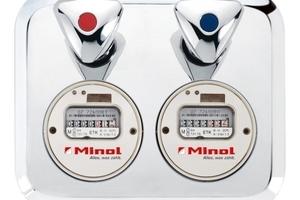 Der Minoblock micro – mit zwei Unterputzzählern samt Absperrventilen – ist der angeblich kleinste Wasserzählerblock der Welt