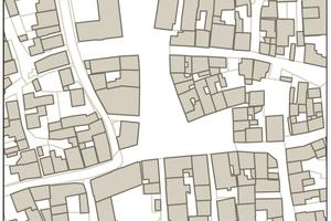Abb.1: Betrachtungsebenen für die Erstellung von Energienutzungsplänen historischer Quartiere – Gemeinde – Quartier – Typische Gebäude