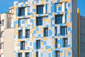 """19. Pariser Arrondissement: Funkelnder Blickfang für Autofahrer. Die zugeschnittenen Aluminiumverbundplatten erzeugen einen """"pixeligen"""" Effekt"""