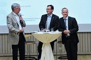 Klaus Leuchtmann, Axel Gedaschko und Alexander Rychter führten durch die Preisverleihung<br />