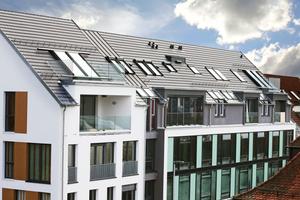 In dem neuen Objekt der Baugenossenschaft Sindelfingen wurden 55 Roto Designo R8 und R6 sowie 15 Fassadenanschlussfenster verbaut