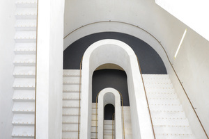 Gestaltung des Blindenleitsystems – Staatstheater Darmstadt (Umbauplanung Lederer+Ragnarsdóttir+Oei, Blindenleitsystem CBF)<br />