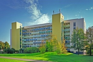 Seniorengerecht modernisiertes Gebäude am Burgring in Dortmund. Der Komplex umfasst insgesamt<br />60 Wohneinheiten<br />
