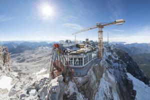 Auf der Zugspitze entsteht der höchst gelegene Aufzug Deutschlands