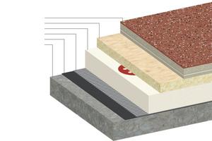 Aufbau des Wärmedämmsystems mit geringer Aufbauhöhe