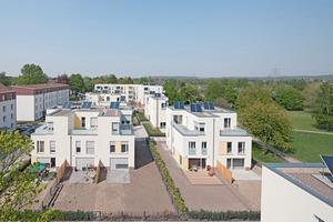 Im ersten Bauabschnitt wurden 14 Eigenheime als Doppelhäuser bzw. in Dreiergruppen errichtet