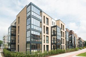Im Garstedter Dreieck in Norderstedt errichtet die ADLERSHORST Baugenossenschaft insgesamt 108 hochwertige Mietwohnungen mit neun Solaraufzügen
