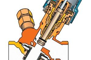 Am AB-QM wird der maximale Strangvolumenstrom eingestellt. Durch die Ergänzung von QT erfolgt eine Aufrüstung des AB-QM zu einem Rücklauftemperaturbegrenzer. Übersteigt nun die Rücklauftemperatur des Stranges den eingestellten Maximalwert, drosselt AB-QM den Strangmassenstrom automatisch<br />