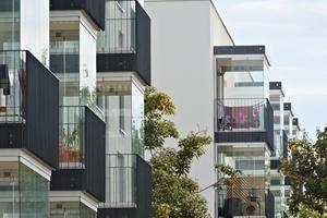 Die 1- bis 5-Zimmer-Wohnungen sind als KfW Energieeffizienzhaus 70 gebaut