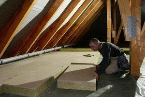 Einlagige Dachbodendämmung nach EnEV