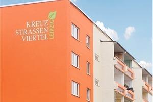 Architektonische Visitenkarte: Durch die markante Farbgestaltung erhielt das sanierte Kreuzstraßenviertel in Leipzig ein neues Gesicht