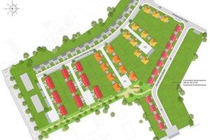 """""""Am Scharpenacker"""" werden auf einem ehemaligen Kasernengelände 117 Einfamilienhäuser erstellt, die mit Wärmepumpen ausgerüstet werden<br />"""