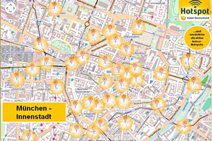 Am Beispiel München zeigt sich die Verteilung der Hotspots im Innenstadtbereich