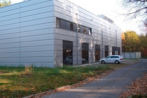 Das Forschungszentrum Dresden Rossendorf in der Außenansicht. Mit Fördermitteln wurde ein örtliches Blockheizkraftwerk errichtet<br />