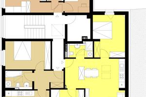 Drei Wohneinheiten wurden durch den Ausbau des Dachgeschosses gewonnen
