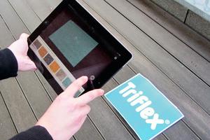 Per App lässt sich vorab am eigenen Objekt testen, wie das ausgewählte Design nach der Umsetzung aussehen wird