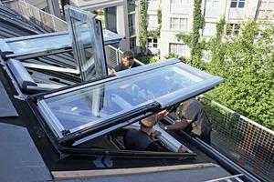 Eingebaute Austauschfenster als 3er-Kombination