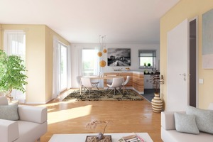 Projekt Cubiente: Innenansicht 4-Zimmer Wohnung<br />