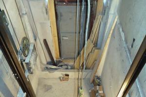 Die Grubenunterfahrt des Aufzugschachtes wurde neu geplant