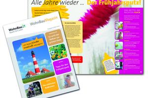 Kommunikation braucht ein Konzept: Für die regelmäßige Kommunikation mit ihren Mietern nutzt die WohnBau das Mietermagazin der WRW