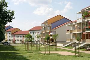 Durch den Umbau entstanden aus den einstigen Plattenbauten attraktive, ansprechende Gebäude
