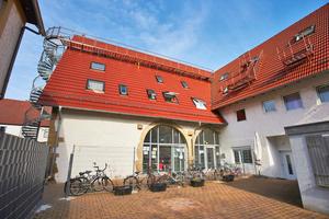 Im Stil eines Hotels wurde die Flüchtlingsunterkunft in Remseck bei Stuttgart erbaut