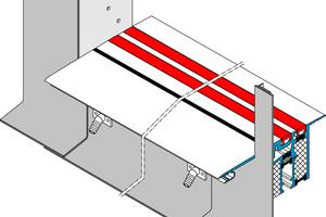 Abb.1: Schwellenlose Ausführung mit werkseitig integrierter Dach- und Dichtungsbahn sowie Oberflächenwasser- und Schlagregenableitung