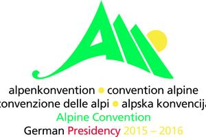 Logo des deutschen Vorsitzes der Alpenkonvention