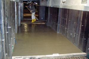 Betonage der WU-Sohle/Einbindung Vertikalbleche