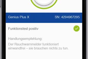Mit der Genius Pro App erfolgt die Wartung von Rauchwarnmeldern schnell und effizient per Smartphone