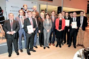 Auszeichnung der Pilotprojekte auf der Messe Bau 2015 durch Staatsekretär Florian Pronold