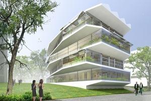 Das Verhältnis von Innen- und Außenraum ist das zentrale Thema des Wohnungsbaukonzepts<br />
