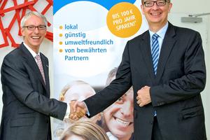 Holger Hentschel, COO der LEG Immobilien AG, (li.) und Carl-Ernst Giesting, Vorstandsvorsitzender und Finanzvorstand der RWE Vertrieb AG, Dortmund (re.)