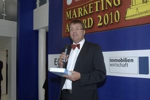 Professor Dr. Stefan Kippes, Organisator des Awards, bei der letztjährigen Preisverleihung während der Expo-Real in München<br />