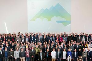 Referenten und Teilnehmer der ersten Alpenbaukonferenz