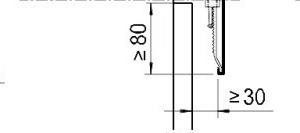 Der Tropfkantenabstand und die Höhe der Abkantung sind abhängig von der Gebäudehöhe
