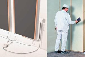 Auch Unterputzsysteme profitieren vom Strahlungsprinzip sowie von großen Übertragungsflächen. Die warmen Wände beugen wirkungsvoll Schimmelbildung vor
