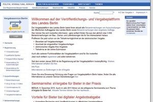 Seit 2010 greifen Vergabestellen im gesamten Berliner Raum auf die Plattform zu<br />