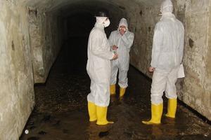 Überflutete und kontamienierte Luftschutzkeller vor der Sanierung