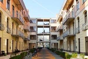 Die neue Wohnanlage in Berlin-Mitte verfügt über 118 Appartements mit passenden Zuschnitten für Singles, Paare und Familien