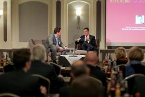 Im Gespräch mit Chefredakteur Achim Roggendorf: GdW-Präsident Axel Gedaschko<br /><br />