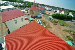 Der Trend zu flachen Dachneigungen bestimmt neue Baugebiete