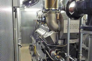 Der Verbrennungsmotor ist das Herz des BHKW: Er treibt den Generator an, der Strom und gleichzeitig Wärmeenergie produziert