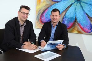 Marco Doll (links) und Sascha Gohlke von der BGFG haben ihre Genossenschaft für SEPA fit gemacht