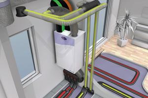 Decke, Wand oder Fußboden: Bei zentralen oder wohnungszentralen Lüftungsgeräten gibt es unterschiedliche Möglichkeiten, die Luftkanäle zu verlegen