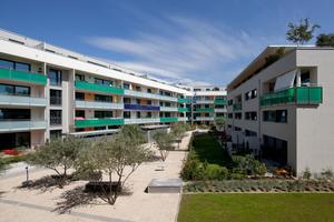 sunbase bietet einen breiten Mix an Grundrissformen, der nach Erfahrungen von Bien-Ries wesentlich zur Akzeptanz des Wohnbauprojekts beiträgt