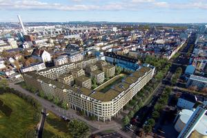 """Das """"Goethequartier"""" entsteht auf dem ehemaligen Produktionsgelände der Werkzeugmaschinenfabrik Collet und Engelhard, die Anfang der 1970er Jahre stillgelegt wurde"""
