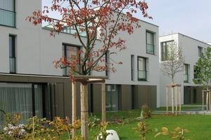 Alle Häuser wurden um einen <br />zentralen Gartenhof angeordnet<br />